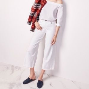 Ann Taylor High Rise Wide Leg Modern Fit Jeans 00